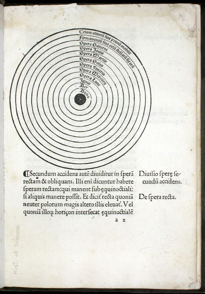 Joannes de Sacro Bosco, De sphaera (Venice, 1478).  Courtesy of OU History of Science Collections.