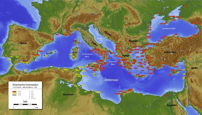 Ancient Greece (Antike Griechen).  Wikimedia Commons.