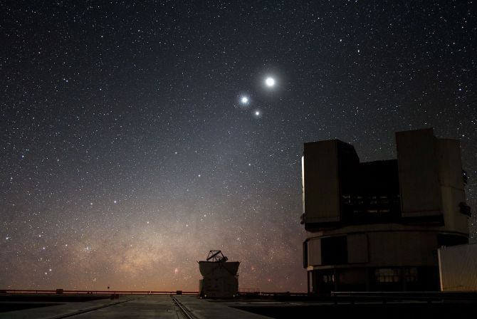 "Celestial Conjunction at Paranal"" by ESO/Y. Wikimedia Commons"