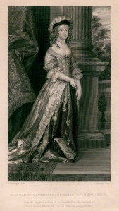 NPG D5346; Margaret Cavendish (nÈe Lucas), Duchess of Newcastle upon Tyne by William Greatbach, after  Abraham Diepenbeeck