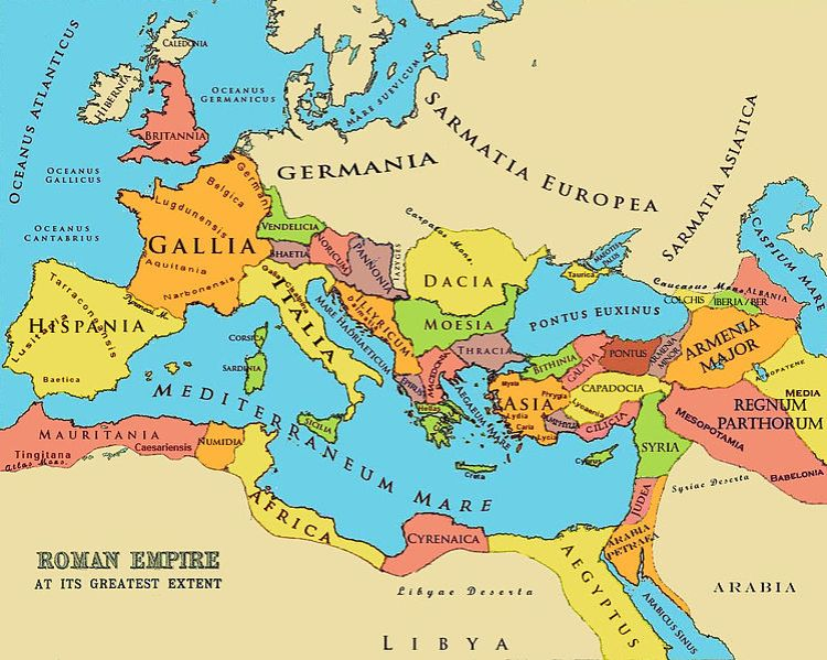 Roman Empire.  Wikimedia Commons.