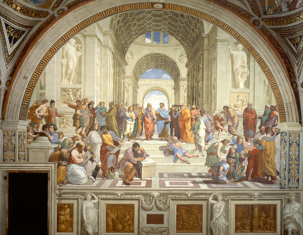 People in the school of athens