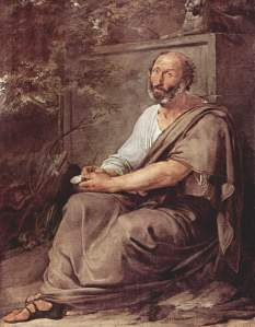 "Francesco Hayez, ""Aristotle"" (1811).  Wikimedia Commons."