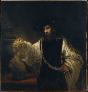 """Rembrandt, Aristotle with a Bust of Homer"""" (1653).  Wikimedia Commons."""