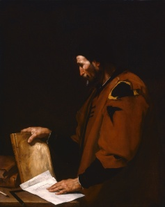"Jusepe de Ribera, ""Aristotle"" (1637).  Wikimedia Commons."