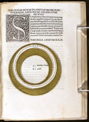 Orb of the sun from Peurbach's Theorica nova (Venice, 1488)